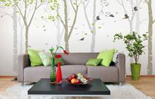 14款手绘沙发背景墙 客厅里的别致风景