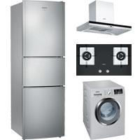 西门子家电 三门冰箱+滚筒洗衣机+油烟机+灶具特惠套装