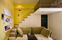 小户型墙面色彩之明媚黄