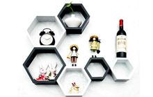 蜂窝状墙面收纳架 来自小蜜蜂的创意