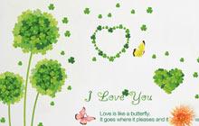 绿色三叶草  给卧室带来清新浪漫感