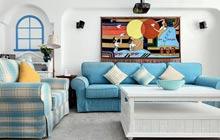 100平地中海风格装修 体验蓝调的静谧