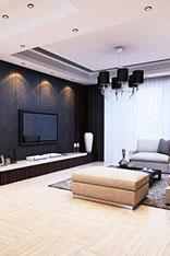 时尚客厅电视背景墙