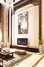 中式客厅电视墙