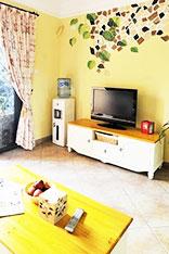 手绘电视背景墙图片
