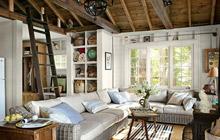 自然实木设计 10款客厅吊顶效果图