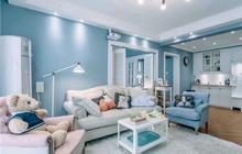 静谧蓝色空间 87平米的清新梦幻
