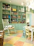 二、儿童书房装修之书房颜色
