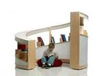 3、循序旋转向上的书柜