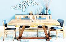 大海般的蓝色餐厅