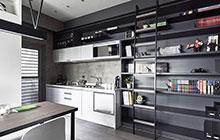 33平轻工业风单身公寓效果图 魅力藏书间