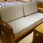 居美印尚 橡胶木三人位沙发